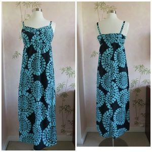 LOFT Blue Medallion Maxi Dress